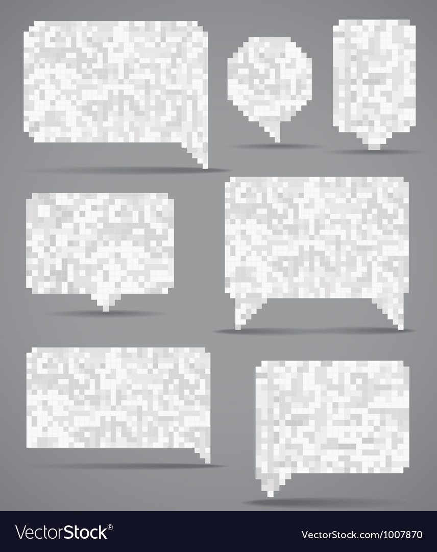 Abstract speech clouds collection of mosaic elemen vector | Price: 1 Credit (USD $1)