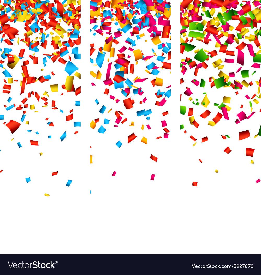 Confetti celebration banners vector | Price: 1 Credit (USD $1)