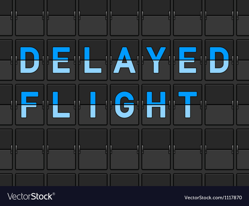 Delayed flight flip board vector | Price: 1 Credit (USD $1)