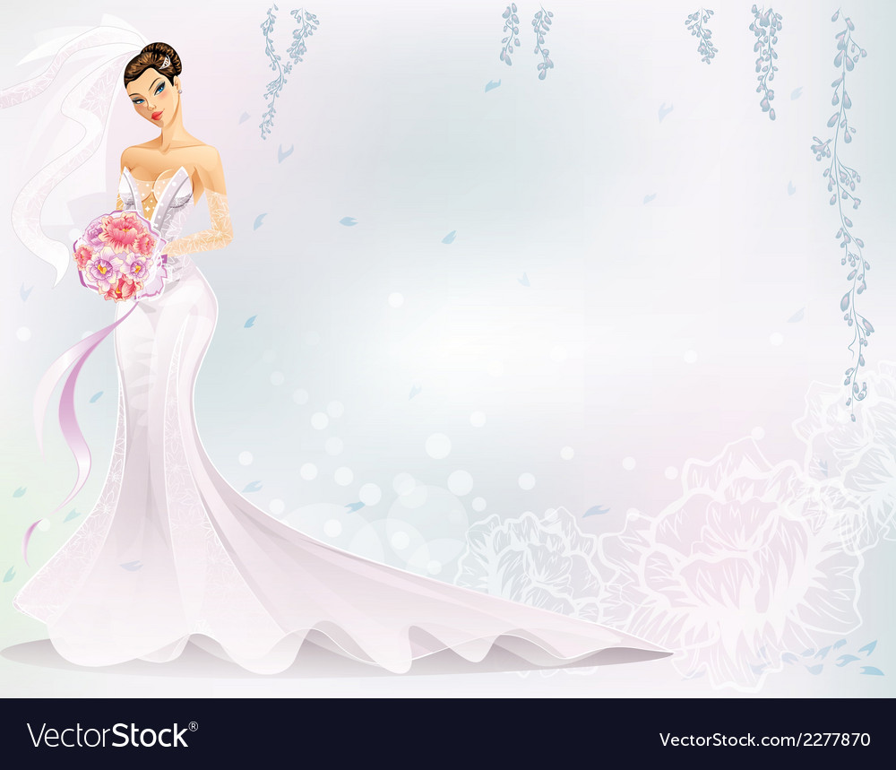 Elegant bride vector | Price: 1 Credit (USD $1)