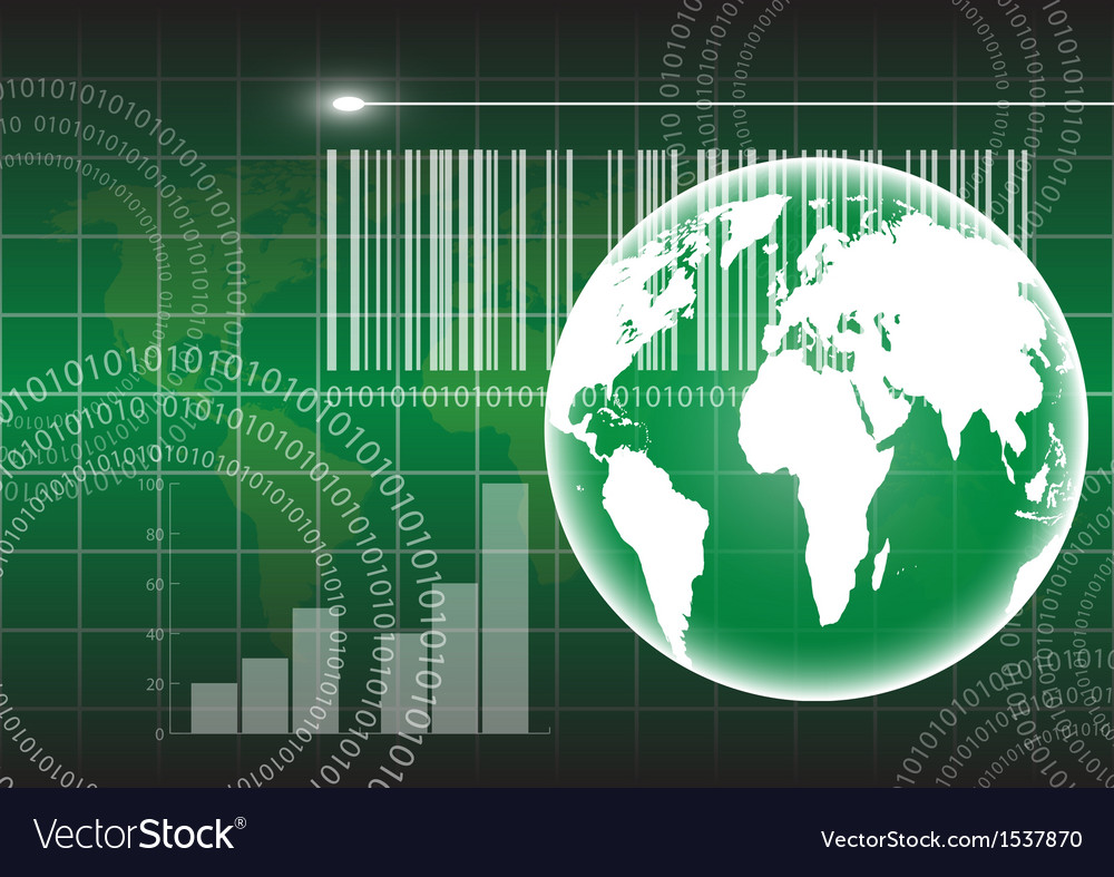 Globe and technology background eps10 vector   Price: 1 Credit (USD $1)