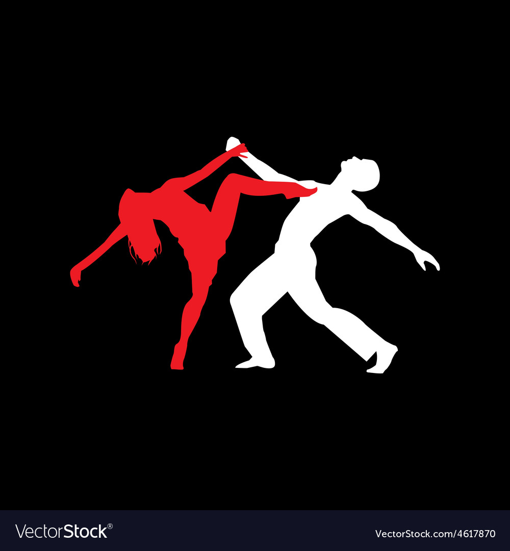 Latin dancers silhouettes vector   Price: 1 Credit (USD $1)