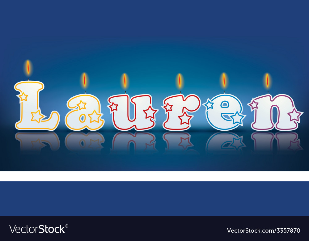 Lauren written with burning candles vector | Price: 1 Credit (USD $1)