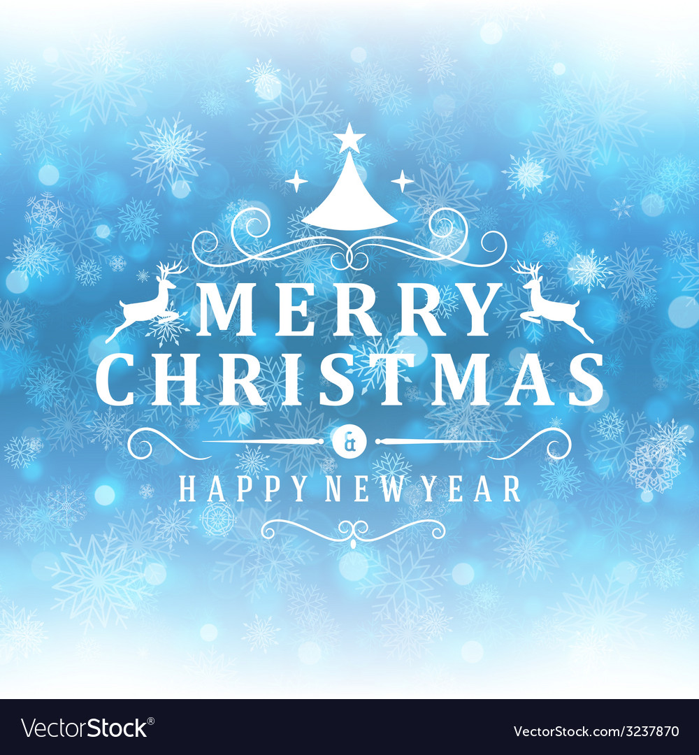Merry christmas message and light background with vector | Price: 1 Credit (USD $1)