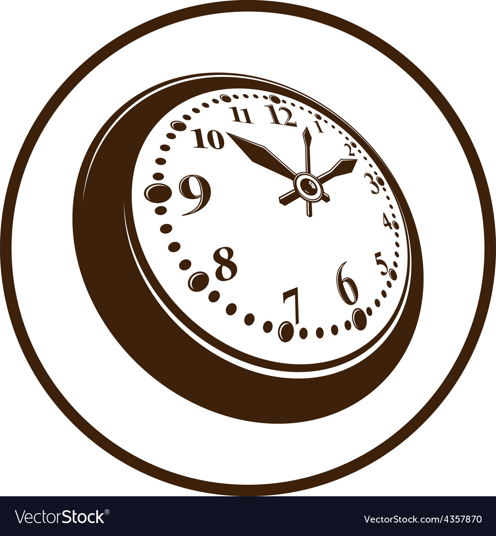 Old-fashioned pocket watch graphic simple vector | Price: 1 Credit (USD $1)