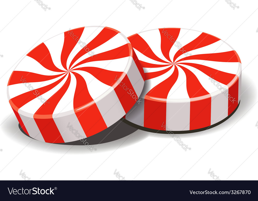 Peppermint candies vector