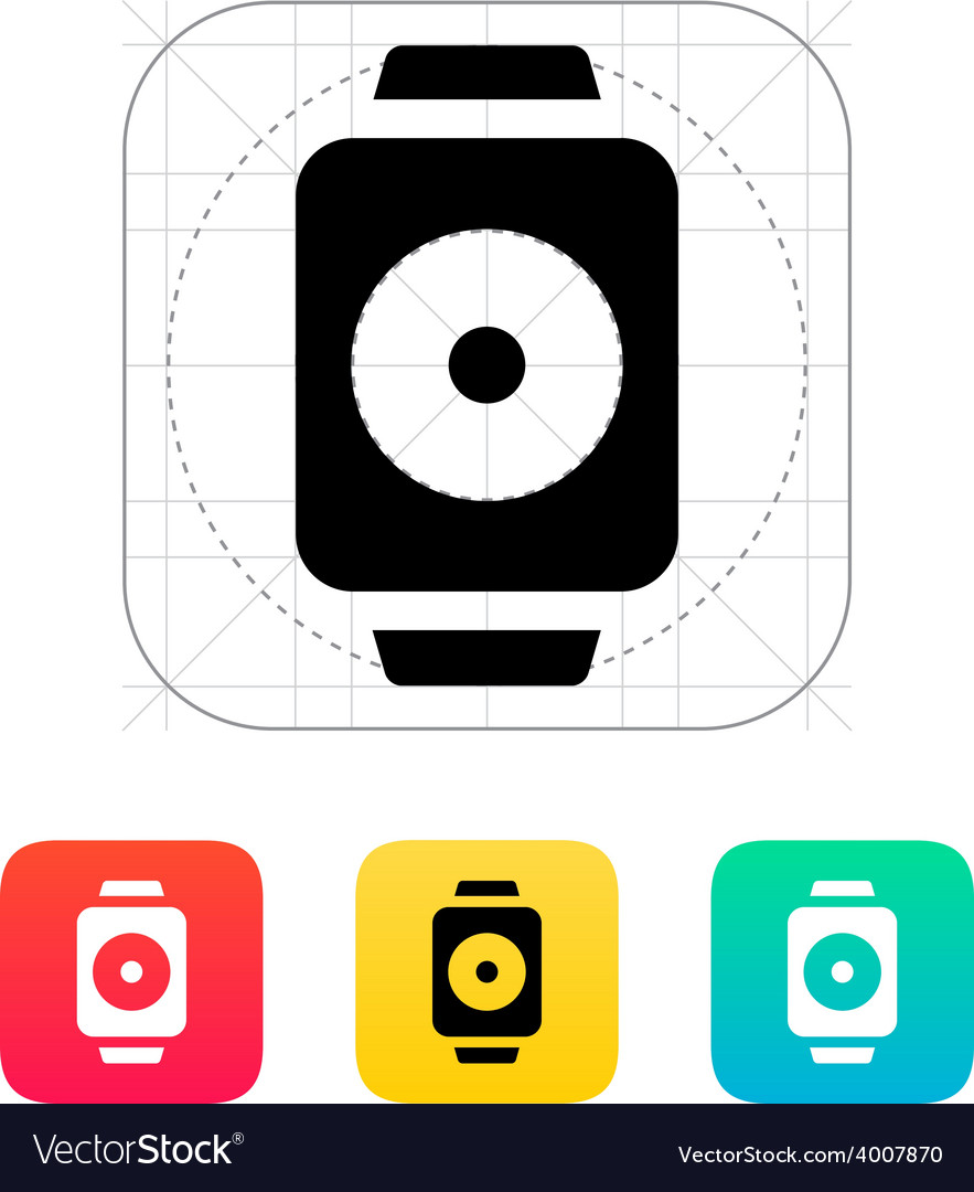Remote controller on smart watch icon vector | Price: 1 Credit (USD $1)