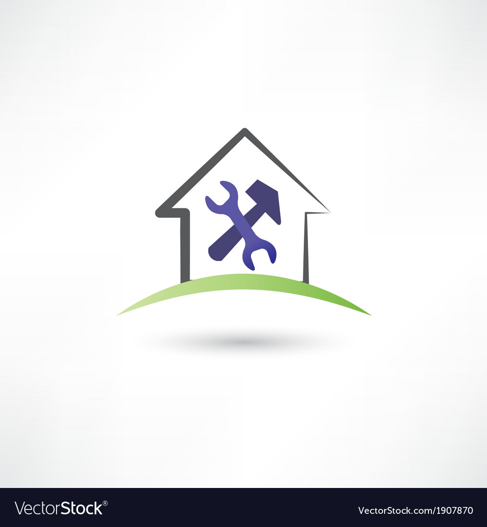 Repairing a house icon vector | Price: 1 Credit (USD $1)