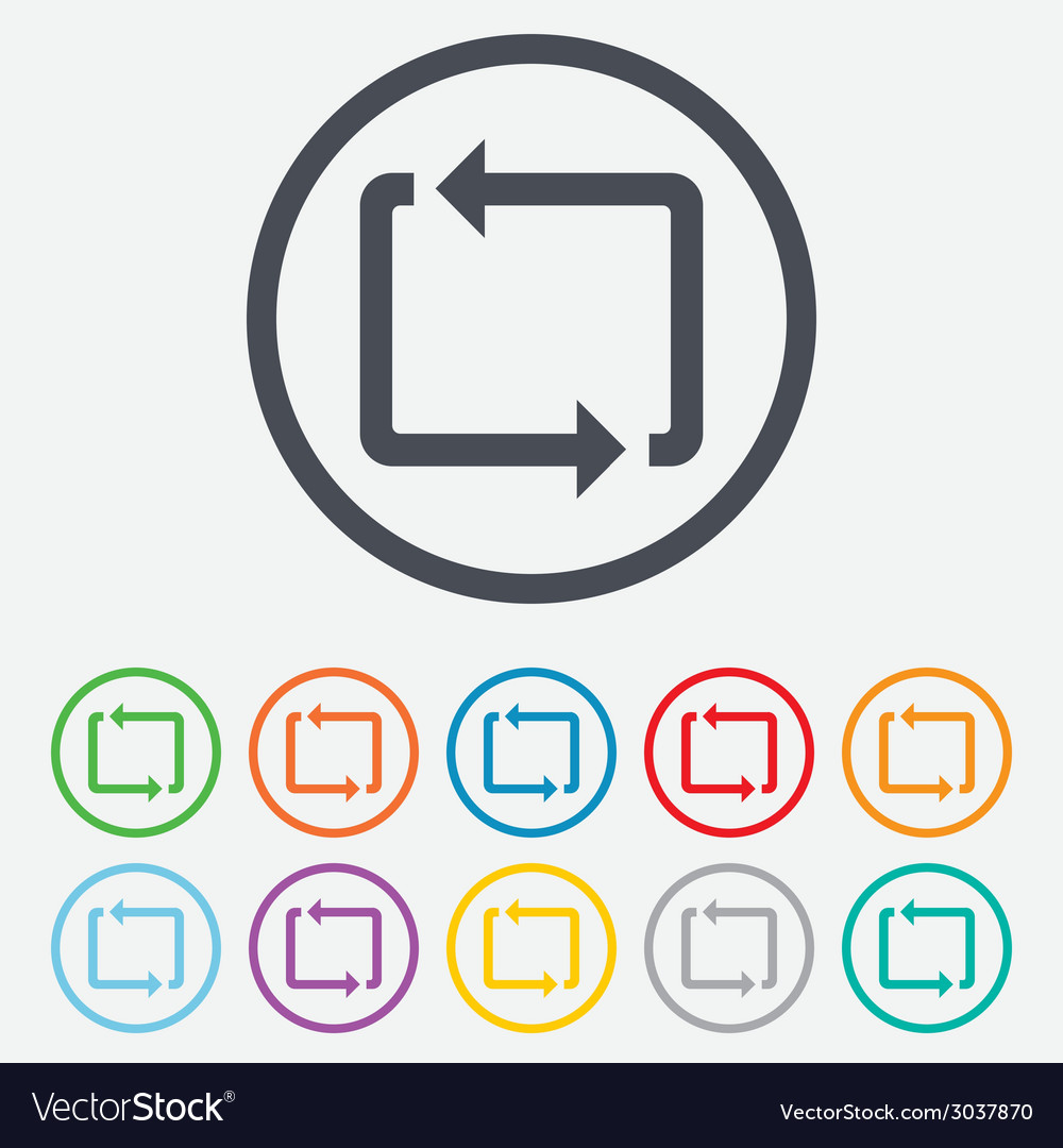 Repeat icon loop symbol refresh sign vector | Price: 1 Credit (USD $1)