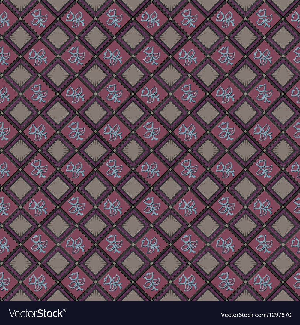 Rhombus seamless pattern vector | Price: 1 Credit (USD $1)