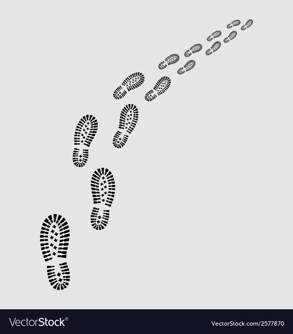 Shoes prints vector | Price: 1 Credit (USD $1)