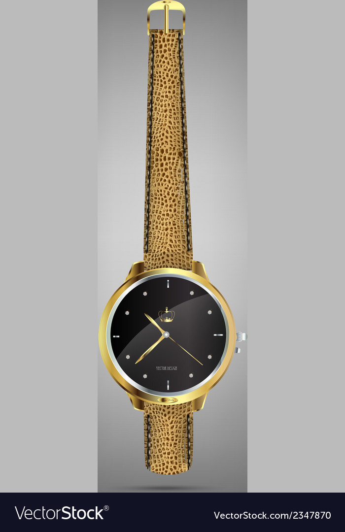 Wristwatches - golden vector | Price: 1 Credit (USD $1)