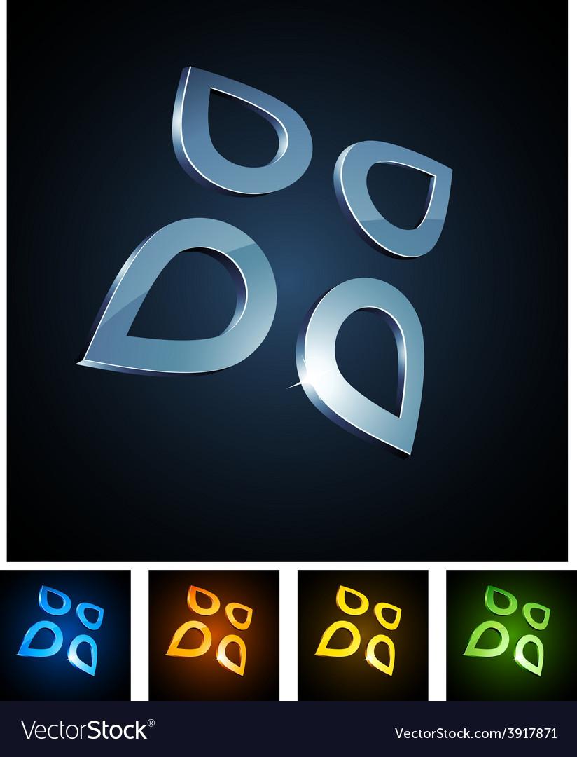3d vibrant drops vector | Price: 1 Credit (USD $1)