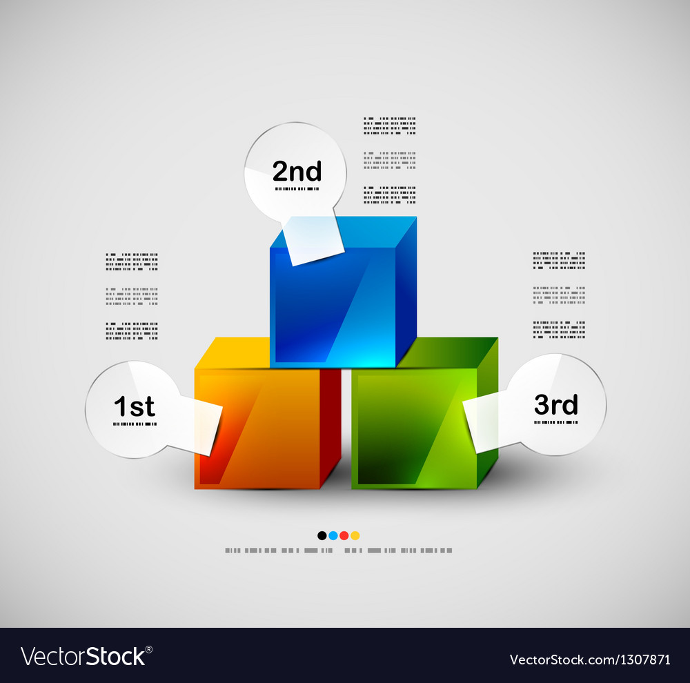 Colorful cubes modern design vector | Price: 1 Credit (USD $1)