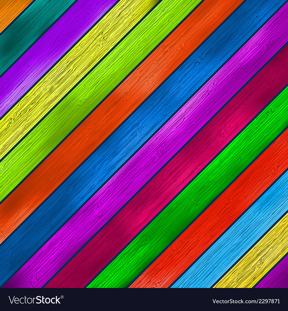 Colorful wooden background  eps8 vector | Price: 1 Credit (USD $1)