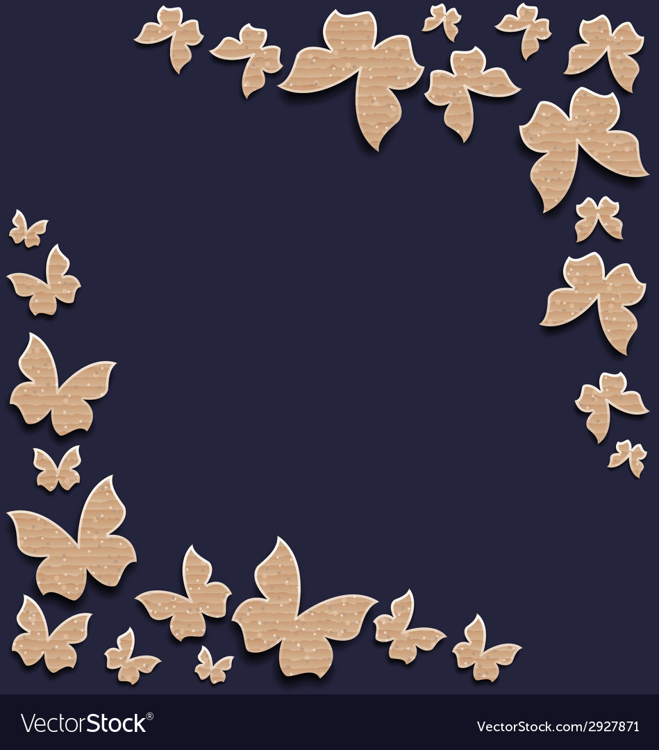 Cute card with butterflies composition made in vector | Price: 1 Credit (USD $1)