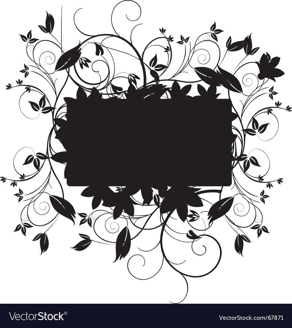 Floral black vector | Price: 1 Credit (USD $1)