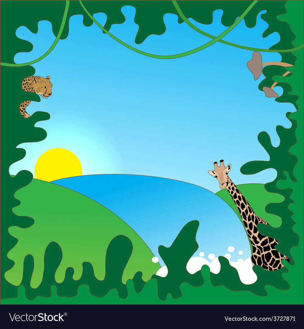 Jungle border vector | Price: 1 Credit (USD $1)