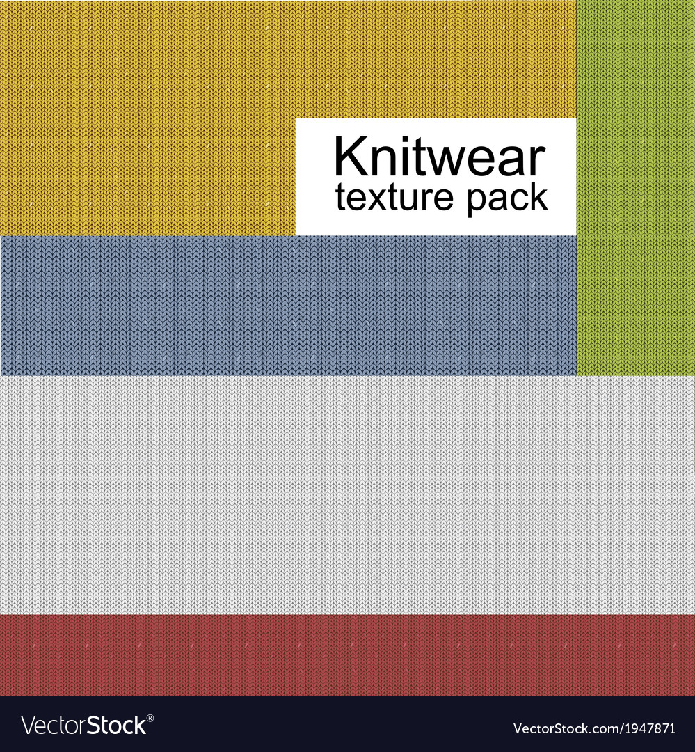 Knitwear texture pack vector | Price: 1 Credit (USD $1)