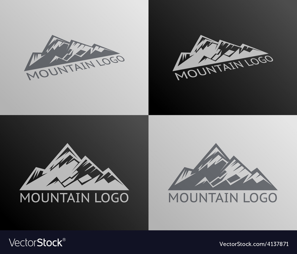 Mountain logo symbol icon isolated vector | Price: 1 Credit (USD $1)