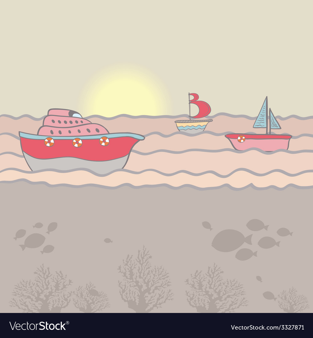 Shiplighthouse9 vector | Price: 1 Credit (USD $1)