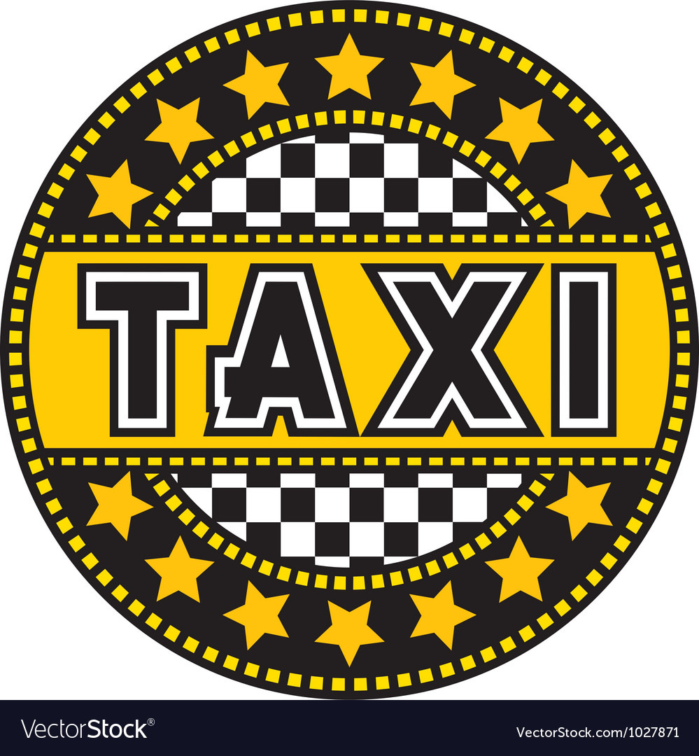 Taxi label vector | Price: 1 Credit (USD $1)