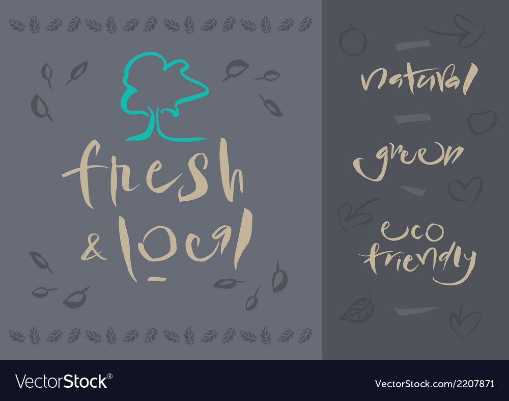 Vegetarian fresh and local vector | Price: 1 Credit (USD $1)