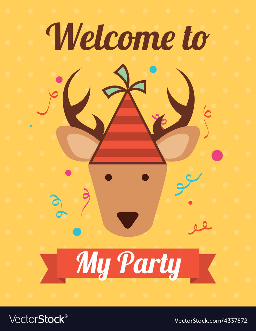 Animal party vector | Price: 1 Credit (USD $1)