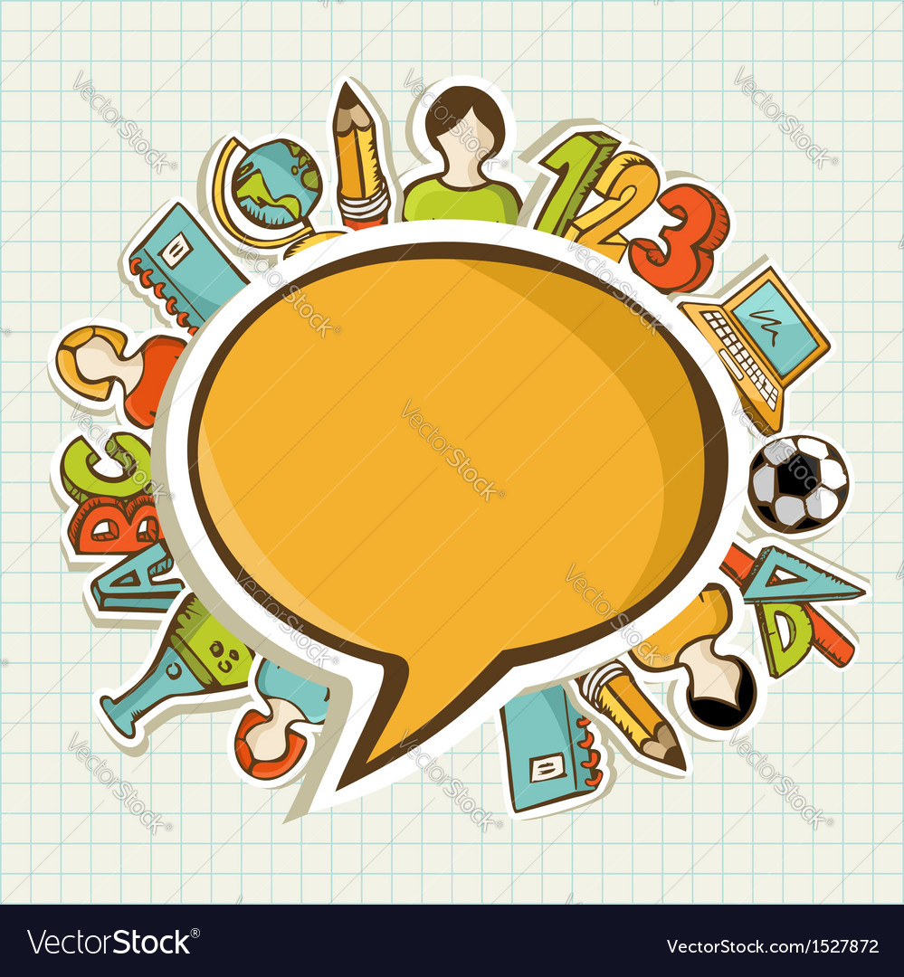 Back to school colorful education icons vector | Price: 1 Credit (USD $1)