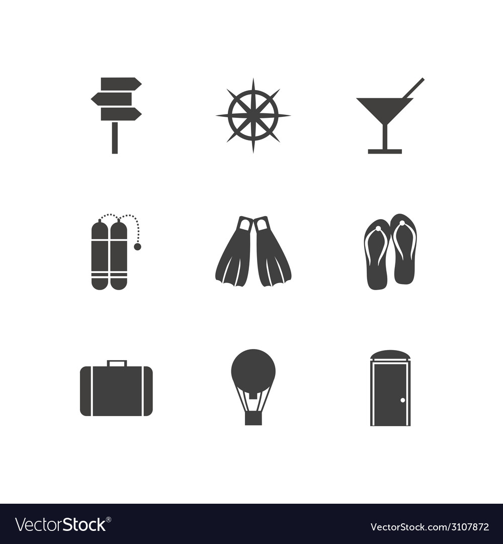 Black icons for leisure vector | Price: 1 Credit (USD $1)