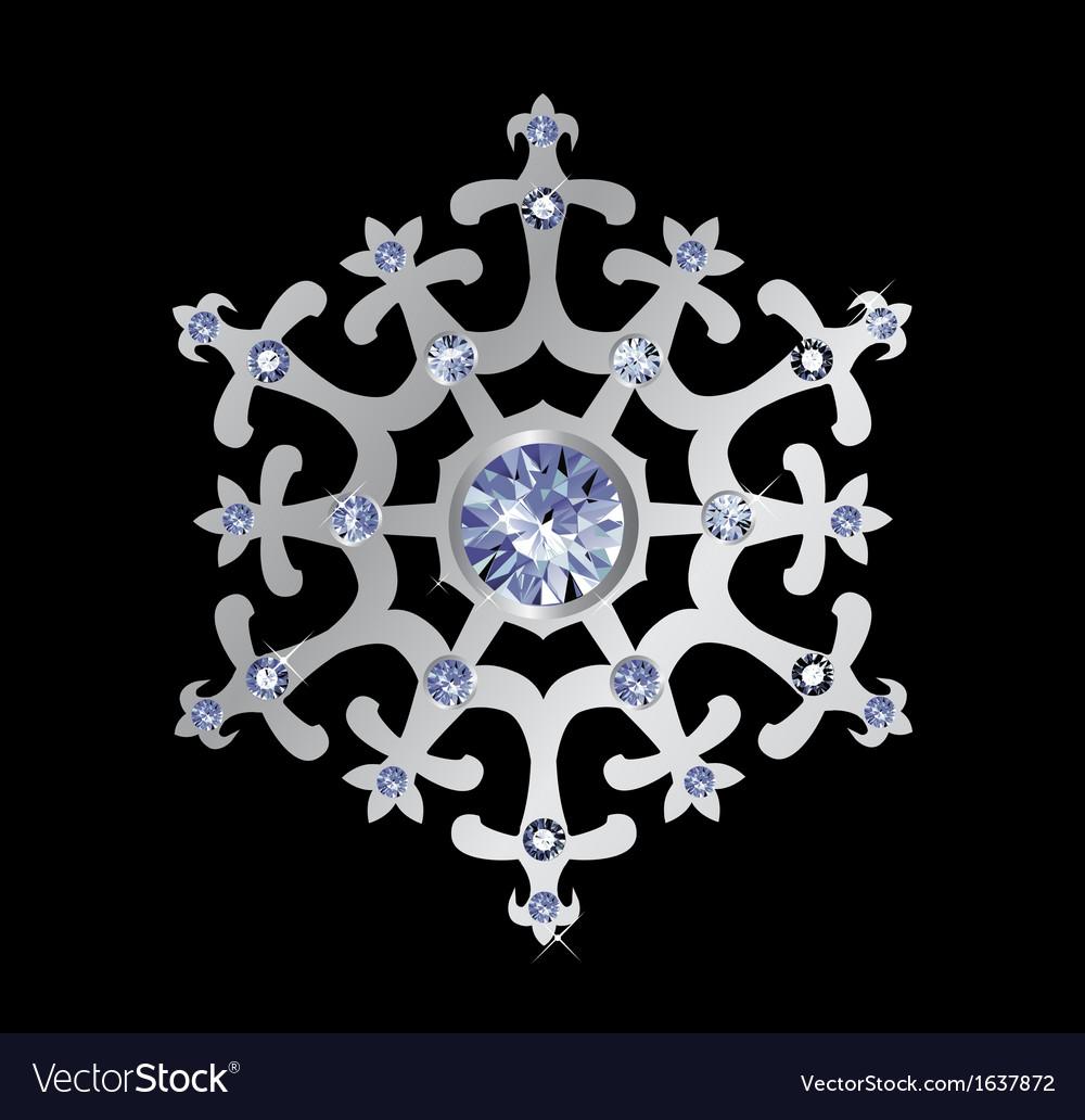 Diamond snowflake vector | Price: 1 Credit (USD $1)