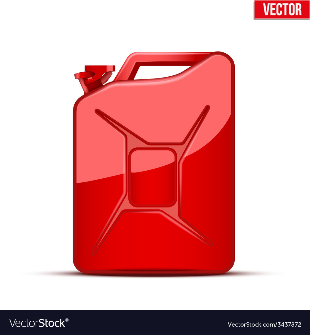 Fuel container canister jerrycan vector | Price: 1 Credit (USD $1)