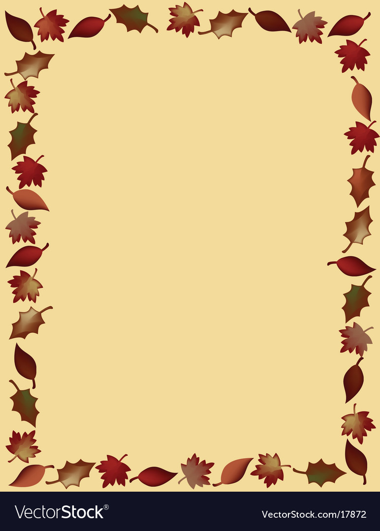 Leaf border vector | Price: 1 Credit (USD $1)