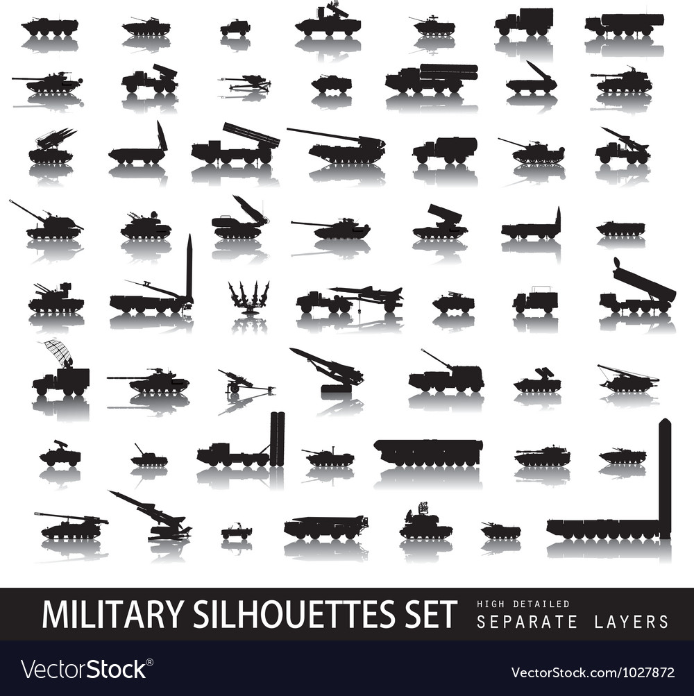 Military set vector | Price: 1 Credit (USD $1)