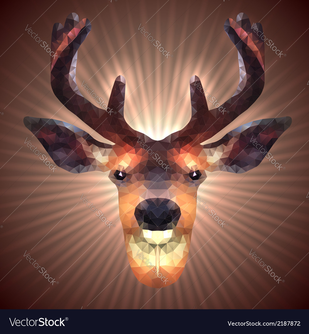 Polygonal deer vector | Price: 1 Credit (USD $1)