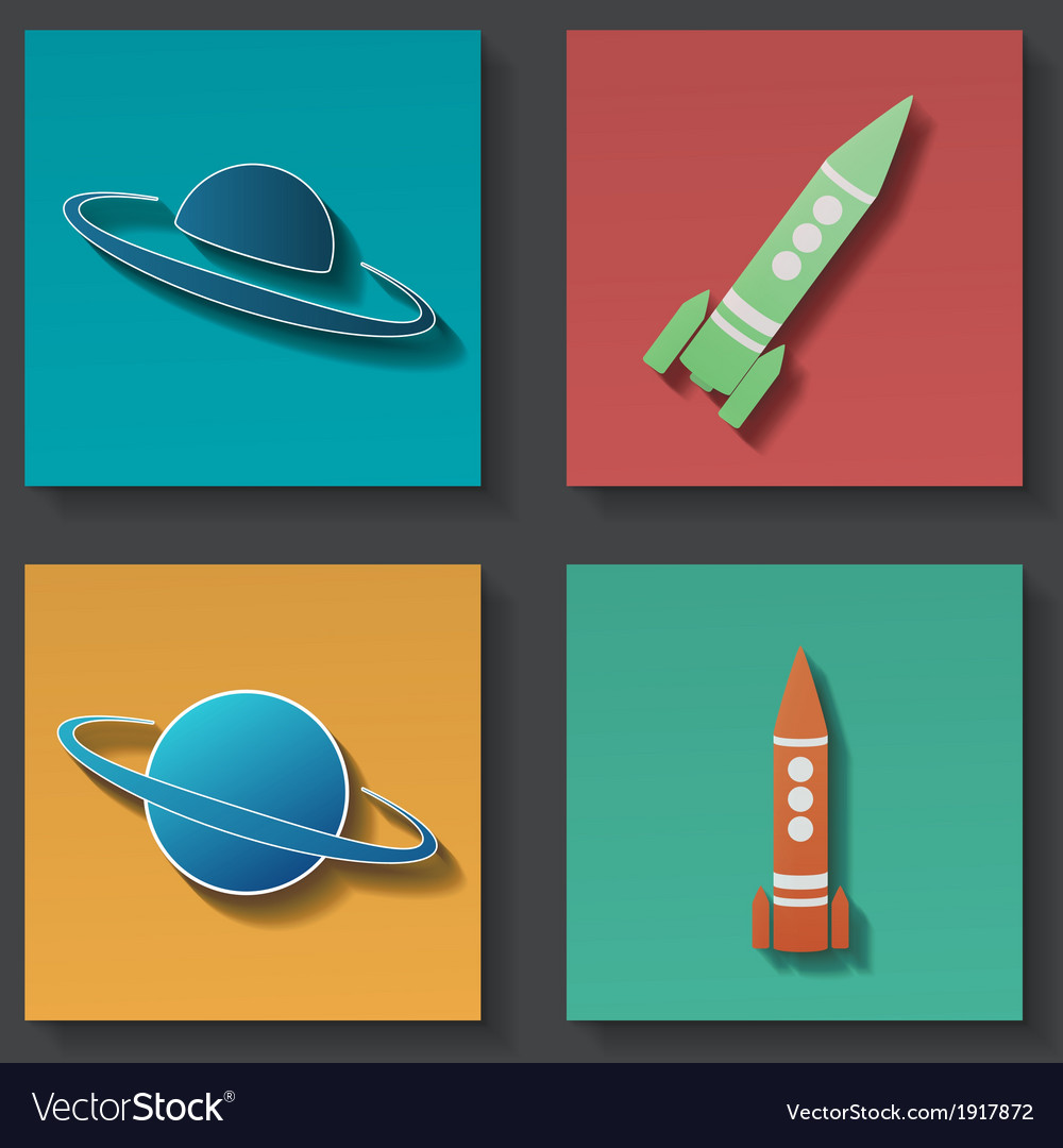 Rocket icon set vector | Price: 1 Credit (USD $1)