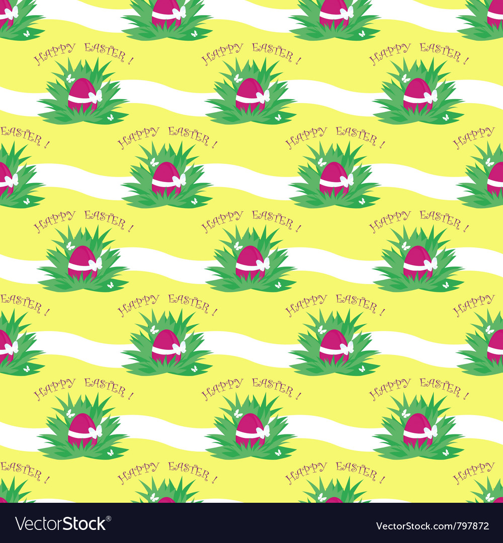 Seamless easter egg pattern vector | Price: 1 Credit (USD $1)