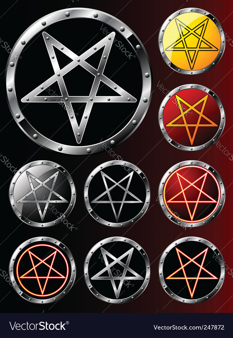 Set of pentagrams vector | Price: 1 Credit (USD $1)