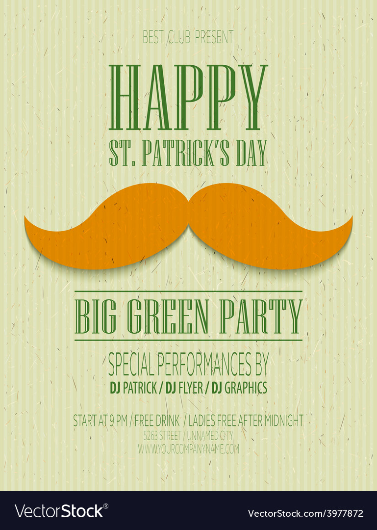 St patrick day poster vector | Price: 3 Credit (USD $3)