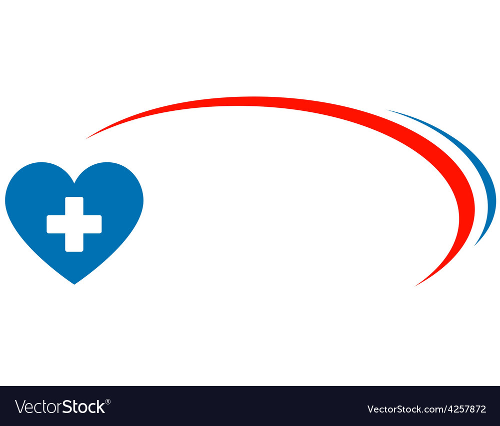 Veterinarian background with heart and cross vector | Price: 1 Credit (USD $1)