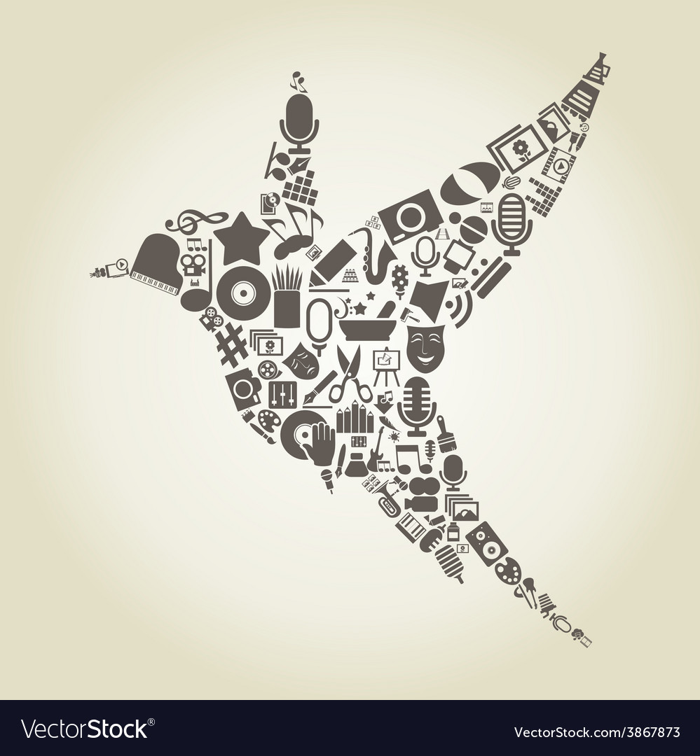 Bird art2 vector | Price: 1 Credit (USD $1)