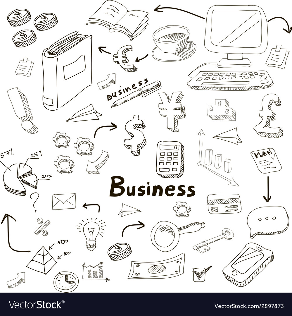 Business idea doodles icons set vector   Price: 1 Credit (USD $1)