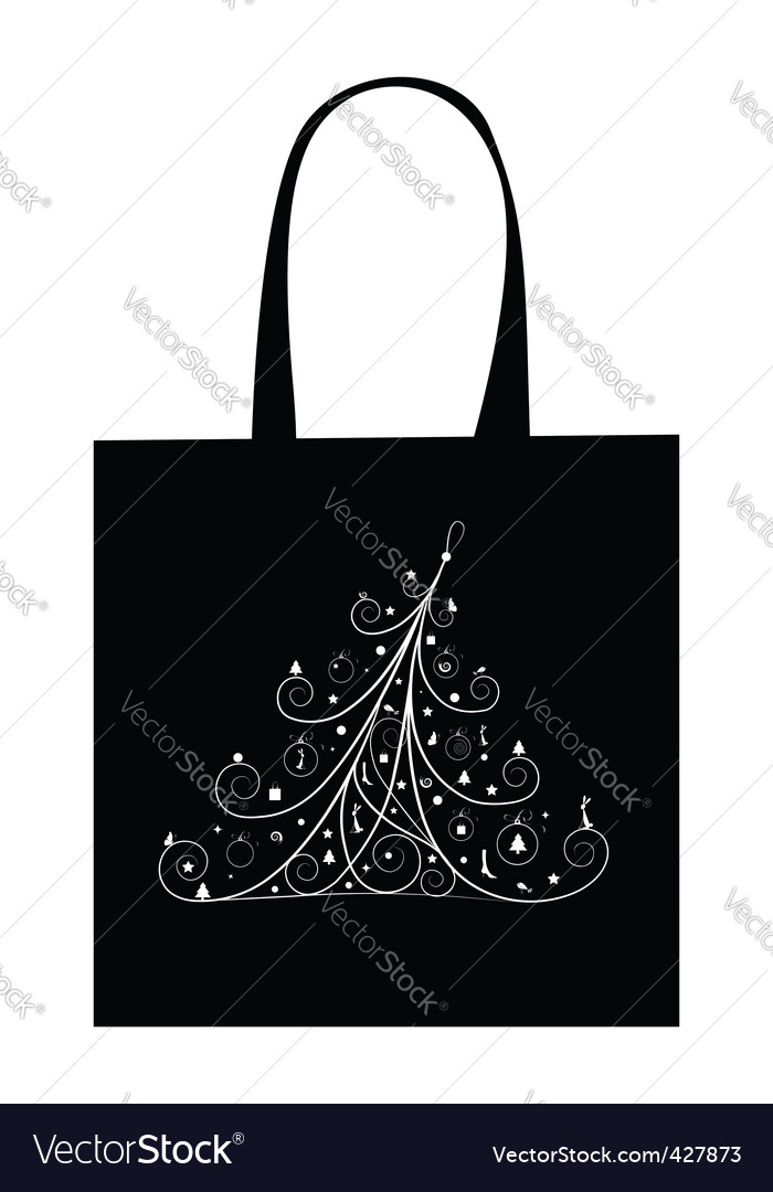 Christmas tree with decoration vector | Price: 1 Credit (USD $1)
