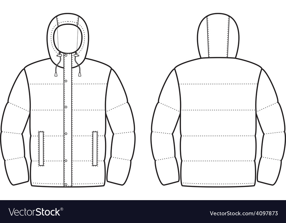 Down jacket vector | Price: 1 Credit (USD $1)