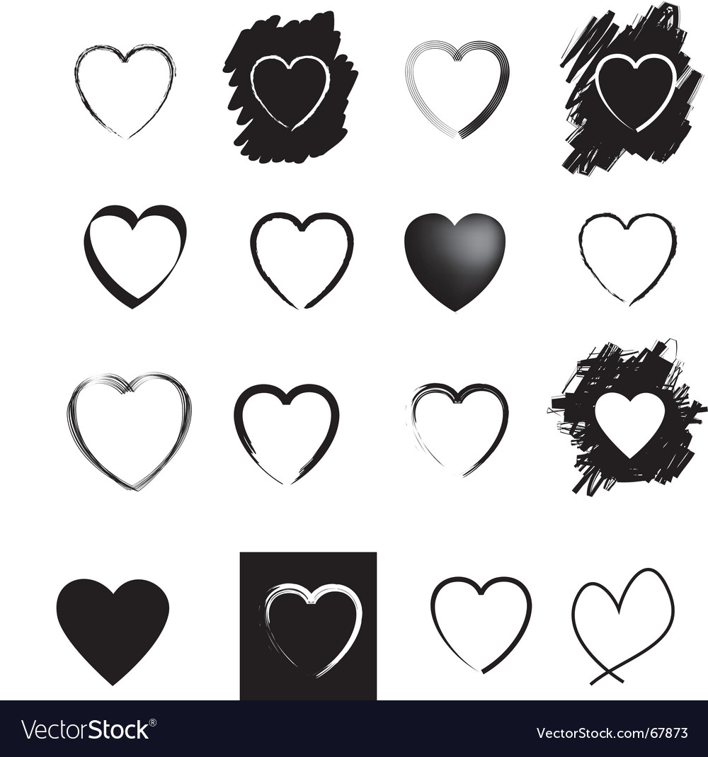 Heart icons vector | Price: 1 Credit (USD $1)
