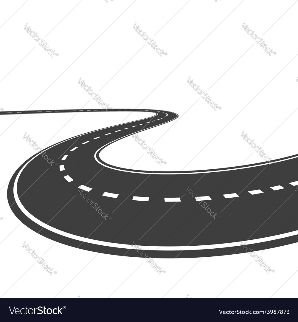 Highway isolated on a white background vector | Price: 1 Credit (USD $1)