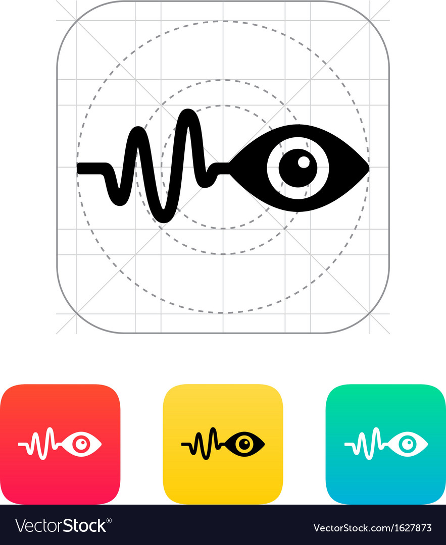 Pulse observation icon vector | Price: 1 Credit (USD $1)