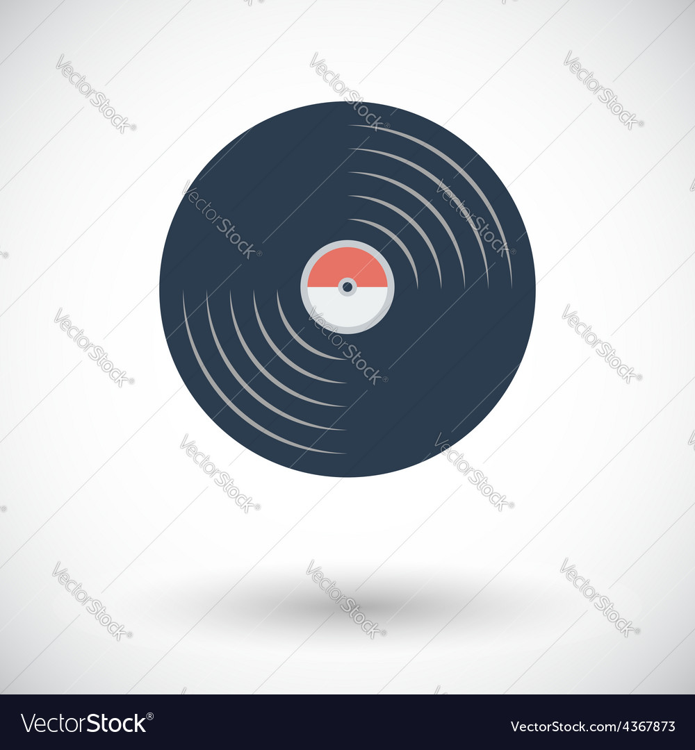 Record icon vector