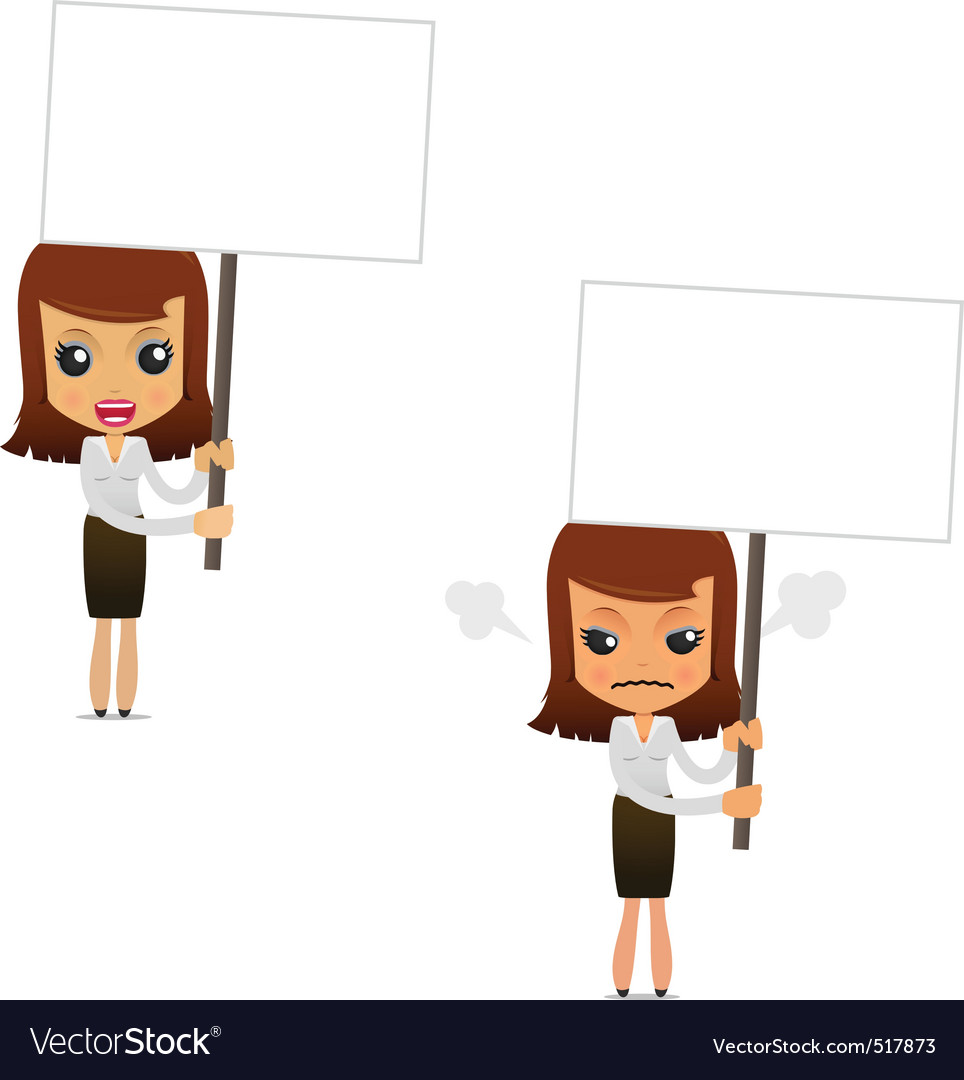 Set of funny cartoon businesswoman vector | Price: 1 Credit (USD $1)