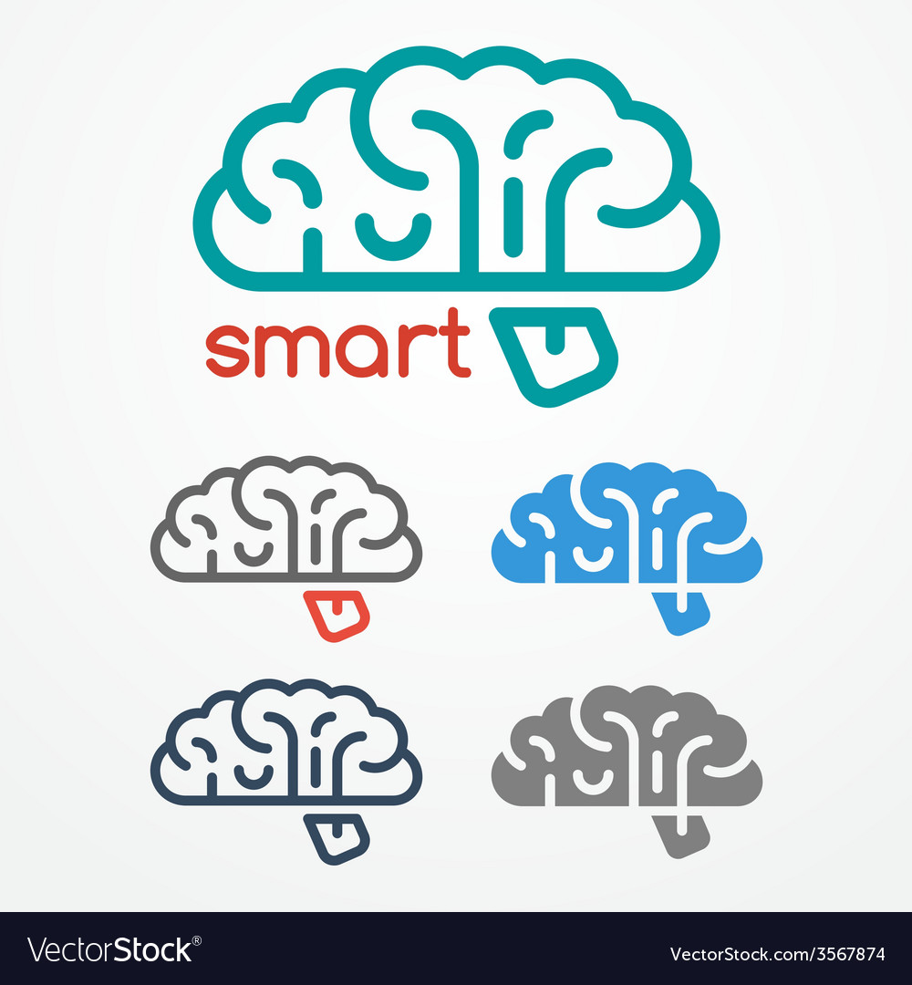 Brain logo set vector | Price: 1 Credit (USD $1)